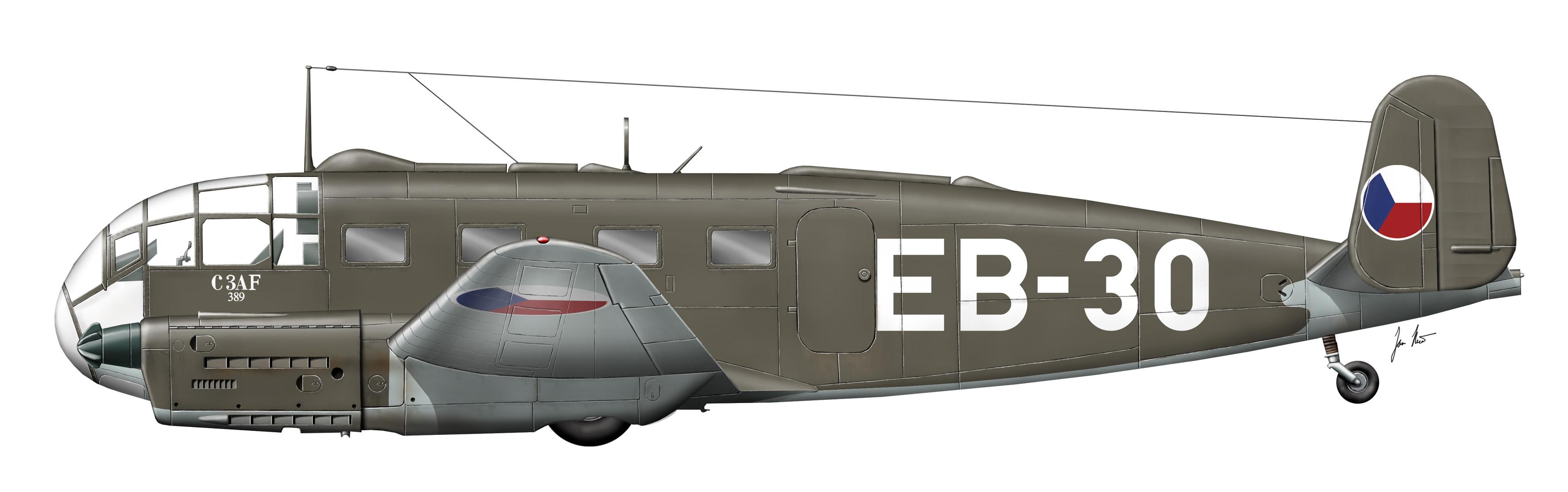 Zřícené letadlo C-3B u Oprechtic